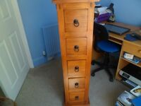 Solid wood CD stand with 5 drawers