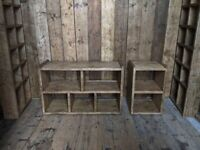 Salvage Hunters upcycle reclaimed wood furniture bookcases pigeon holes gplanera