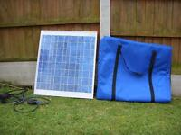 Solar panel in padded case