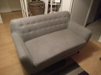 Two seater grey sofa