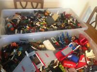 Boxes of Mixed Lego and Instruction Booklets