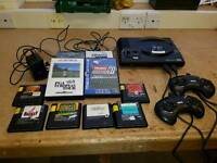 Megadrive with games