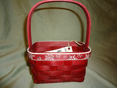 Longaberger 2010 Red Falling Snow Gift Basket-NEW!  SALE!!!!