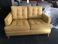 New/Ex Display Dfs Modern Contemporary Fabric 2 Seater Sofa