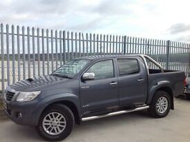 2012 TOYOTA HILUX D/C 3.0 D4-D INVINCIBLE AUTO 4X4 GREY ++ FULL BLACK LEATHER INTERIOR!!! ++