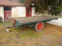vintage flatbed tipping trailer/project/tractor