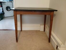Vintage Small Dining Table - Wood Base