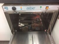 Asber 500 commercial glass washer - washes super fast in 2 minutes.