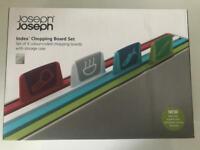 Joseph Joseph Index Chopping Board Set, Silver