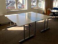Large Double Office Desk with Electric Sockets