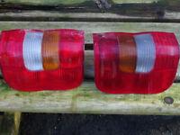 Pair of rear light lenses for Vauxhall Combo Van
