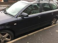 Audi A4 estate diesel starts and drives leather alloys 121,000 genuine mileage