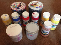 BUNDLE of Acrylic Paints and Acrylic Primers, Mostly FULL and great quality paints!