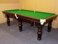 Snooker Table Turned Leg (9x4 Slate Bed)