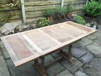 Antique Oak Veneer Dining Table