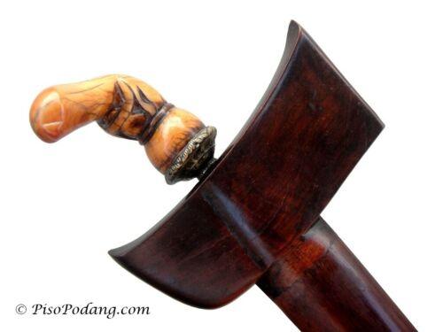 Antique Old Keris Bugis Sumatra Hulu Kerdas Gading - No sword/kris/dagger/knife