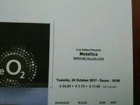 Metallica Tickets 24/10/17