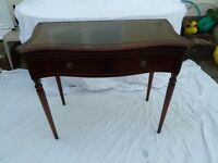 Mahogany side table with hinged swivel top (card table)