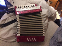 17-Key 8 Bass small accordian, mint condition