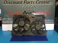 Audi A3 8P TDi radiator fans with housing