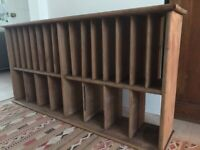 Vintage pine shelf unit