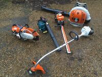 Stihl FS38 Strimmer, BR500 Blower, HS81R Hedge Trimmer, TS410 Disc cutter Joblot