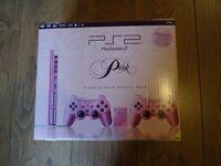 PRINCESS PINK PS2 SLIM RARE PLAYSTATION 2 CONSOLE + 10 GAMES