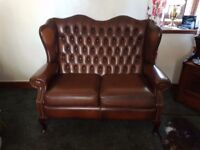 Antique 2 seater leather sofa genuine leather.....excellent condition