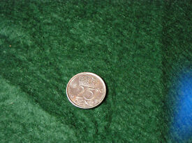 1980 / 1976 Netherlands 25 cent coin