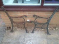 Cast Iron Garden Bench Ends - lot1
