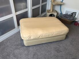 Single folding guest bed with mattress / pouffe. Metal frame Excellent condition