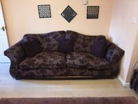 4 seaters Sofa, 3 seater sofa bed and foot stool