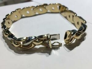 #3402 10K YELLOW / WHITE GOLD UNIQUE LINK BRACELET! JUST ARRIVED STOP BY TODAY!!