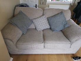 2 and 3 seater sofas and footstool