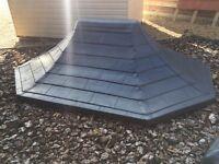 8x6' Quality Octagonal slate Effect Fibreglass Roof