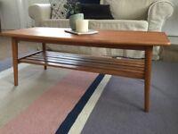 Mid-century modern coffee table solid wood