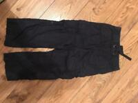 Boys dark blue H&M combat trousers 6-7yrs