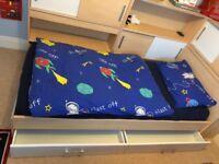 Dreams Snoop Single Bed, Koko Mattress With Storage and Side Shelving Units