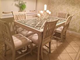 Cream Linda Reid dining table