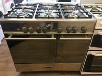 KENWOOD 90CM ALL GAS RANGE STYLE COOKER IN SHINY SILIBER