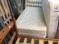SINGLE DIVAN BED WITH MATTRESS (no storage)