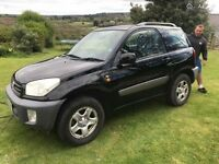Toyota Rav 4 Black 3 Door 2002 1.8petrol Long mot, Full Service H Good Clean Car £1395.00 Pt X Poss