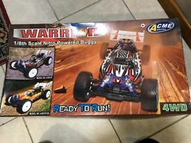 Warrior 1/8th scale nitro powered buggy