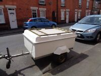 best camping trailer on gumtree glass fibre with gas assitted top which can also carry in roof box