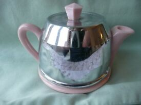 Lovely small pink milk jug and sugar basin with covers Teapot cover only