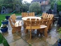Bespoke hardwood patio set wooden garden furniture