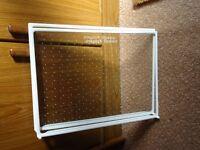 2x glass fridge shelves