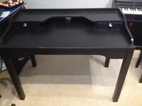 Black Ikea desk/ office table with drawers