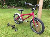 Islabike Cnoc 14 large pink with mudguards and stabilisers. Excellent condition