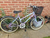 vintage ladies raleigh classis 17 inch frame bike with basket and lock